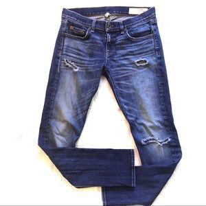 Rag & Bone The Dre Distressed Skinny Jeans 26